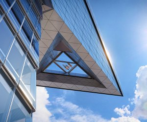 The Edge's glass cutout offers a terrifying view 1,131 feet above street level. Photo courtesy of Related-Oxford