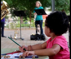 Young Audiences of Houston performs outdoor concerts at Levy Park. Photo courtesy of yahouston.org