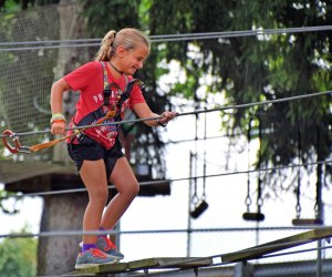 Test your courage at Treetop Adventures. Photo courtesy of Elmwood Park Zoo