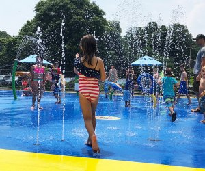 The spray park is sure to thrill kids young and old.