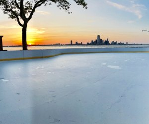 An ice rink is opening for summertime fun on Governors Island.