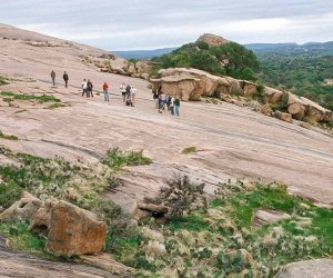 Make it an unforgettable family getaway from Houston  by hiking Enchanted Rock. Photo courtesy Passport to Texas.