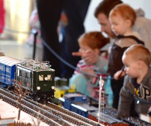 All aboard! Marvel at a world of tiny enchantment! Watch an intricate miniature model railroad wind through magnificent scenery that the whole family can enjoy at The Morton Arboretum. Photo courtesy of the arboretum