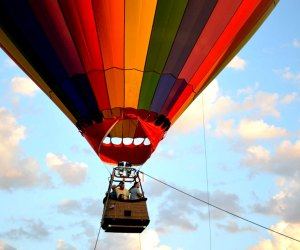 Thrill to a hot-air balloon ride over Long Island at the Long Island Summer Festival.  Photo courtesy of the  festival