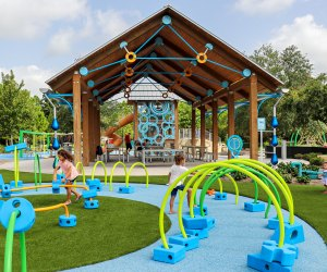 Toddlers can enjoy playing with the foam block structures at Exploration Park. Photo courtesy of Exploration Park