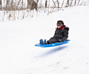 Enjoy sledding action at Fairmount Park. Photo by Brianna Spause/Philadelphia Parks & Recreation