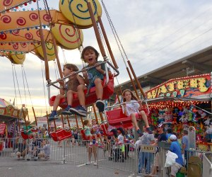 The Bellmore Family Street Festival has carnival rides and plenty more fun for kids. Photo by author