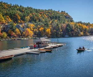 Take in the splendor of the season with a fall getaway to Mohonk Mountain House in New Paltz. Photo courtesy of the venue