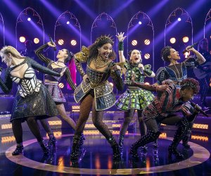 SIX on Broadway brings plenty of girl power to the stage at the Brooks Atkinson Theatre. Photo by Joan Marcus
