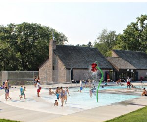 Fernridge Pool in West Hartford has a spray park and swimming pool. Photo courtesy of TLB Architecture