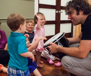 Tots can explore instruments and more at parent-and-child music class.