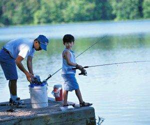Have fun as a family, fishing at Lake Fairfax Park. Photo courtesy of Fairfax County