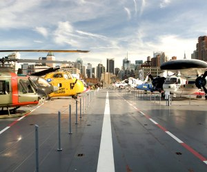 Explore the Flight Deck at the Intrepid Sea ,Air and Space Museum. Photo courtesy of the museum