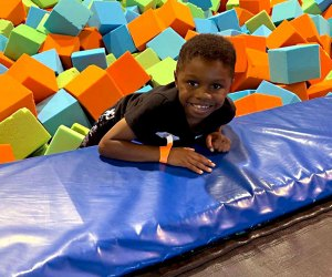 Jump into the foam pit at Flight Fit N Fun's indoor entertainment center. Photo courtesy of the venue