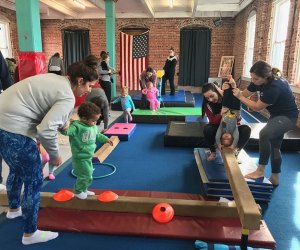 gymnastics-themed camp experience at Flip Out Productions