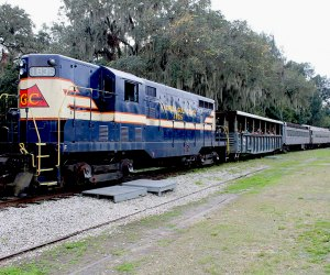 Visitors can actually ride the exhibits at the Florida Railroad Museum, which hosts a variety of experiences throughout the year. Photo courtesy of the museum