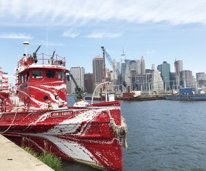 See the city skyline from a historic NYC fireboat with a new look.
