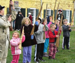 Training the new recruits during Siege Weekend. Photo courtesy of Fort Mifflin