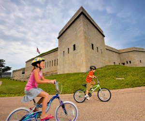 Bike the ground of Fort Trumbull. Photo courtesy Visit CT