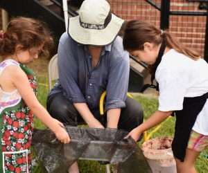 Budding paleontologists are invited to search for bone fragments during the Museum's Fossil Wash. Photo courtesy of Houston Museum of Natural Science.