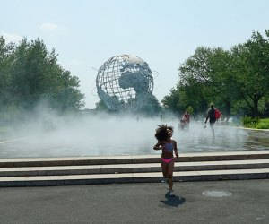 Fountain of the Fairs offers a cooling mist cloud for kids to play in
