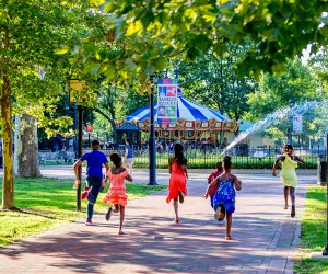 Celebrate Franklin Square's 15th birthday. Photo by Jeff Fusco for Historic Philadelphia, Inc.