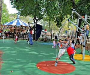 Franklin Square offers plenty of shade, and a host of other activities, including mini golf and carousel rides. Photo courtesy of Franklin Square