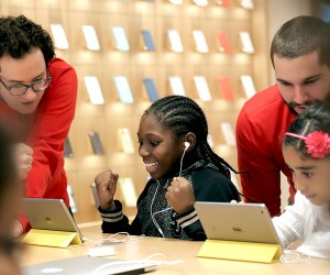 Apple has many classes for all ages, including the popular Hour of Code workshop. Photo courtesy of Apple