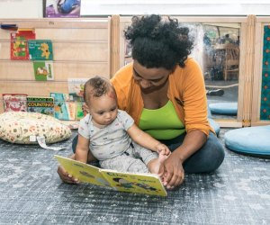 Reading at the Free Library. Photo credit Philadelphia Free Library