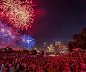 Fireworks from the Freedom Over Texas event. Photo by Richard Carson//City of Houston's Office of Special Events