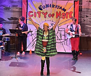 Celebrate Black History Month with the family musical FunikiJam's City of Hope! Photo courtesy of the production
