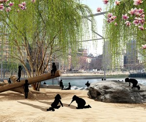New Yorkers will soon have a bit of beachfront on the Hudson River thanks to the planned Gansevoort Peninsula.