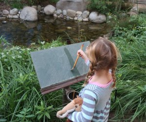 Garden Slate Painting at the Autry Museum. Photo by Jackie Jones