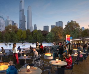 Rendering of dining area at Wollman Rink