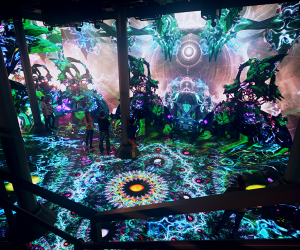 Step into Geometric Shapes, Artechouse's new multimedia installation. Photo courtesy of Artechouse