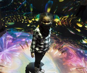 Girl in Geometric Properties Artechouse