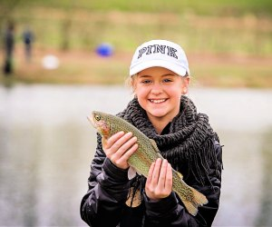 Hook your best trout at Linvilla Orchards' Family Fishing Derby. Photo courtesy of Linvilla Orchards