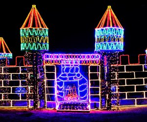 Drive along the 1.5-mile trail at Smith Point County Park to see the Girl Scouts Of Suffolk County Holiday Light Show. Photo courtesy of the Girl Scouts of Suffolk County