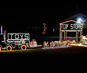 Thrill to the Girl Scouts Of Suffolk County's Holiday Light Show. Photo courtesy of Mass Mutual of Greater Long Island