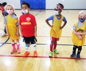 Golden Touch Basketball. kids on a basketball court