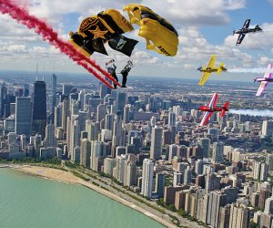 The Golden Knights will thrill at the Chicago Air and Water Show. Photo courtesy of the Chicago DCASE