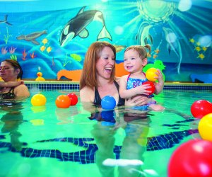 Try a mommy and me swim lesson in Boston
