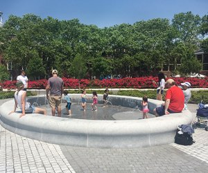 Governors Island play fountain