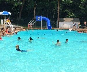 Enjoying Grange Pool. Photo courtesy of Glastonbury Parks & Rec