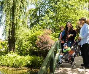 Grounds for Sculpture family on a bridge