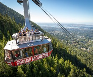Sightsee by air via the aerial tram at Grouse Mountain in Vancouver. Photo courtesy the ski resort