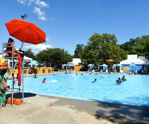 Head to Haffen Pool in the Bronx to beat the heat and enjoy its Cool Pool paint job..