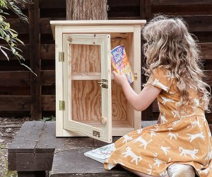 Families can win a Half Pint Lending Library for their neighborhood. Photo courtesy of Half Price Books