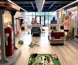 Parents and little ones will love exploring the bright, clean space at Tay + Te Imaginative Play.