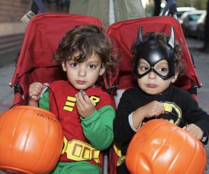 Kids' Halloween Costume Ideas: Batman and Robin